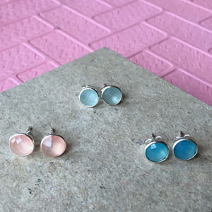 Sterling Silver Stud Earrings - earrings