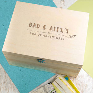 Personalised 'Box Of Adventures' Memory Box - gifts for fathers