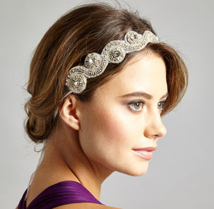 Diamonte Wedding Headband / Belt