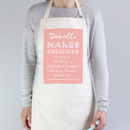 'Makes Delicious' Personalised Apron