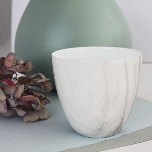 Porcelain Marble Effect Votive
