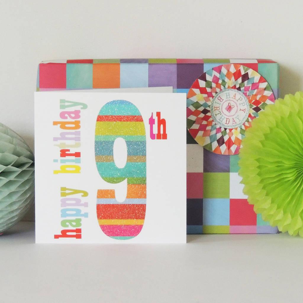 Sparkly 9th Birthday Card By Kali Stileman Publishing