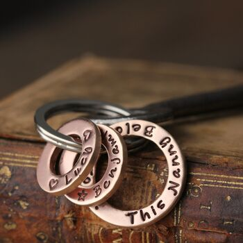 This Nanny Belongs To Personalised Copper Keyring