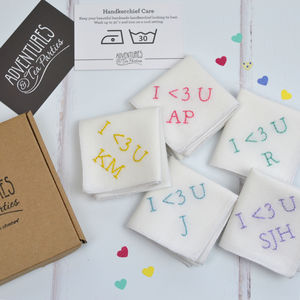 Personalised Handkerchief : I Love You
