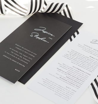 Monochrome Minimal Wedding Invitations