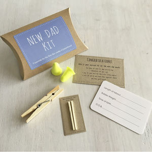 New Dad Kit Humorous Gift Set - cards & wrap