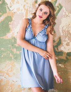 Ash Blue Bamboo Jersey Nightie - lingerie & nightwear