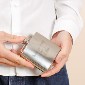 Personalised Gent's Hip Flask With Free Engraving - hip flasks