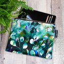 Midnight Botanica Velvet Zip Bag | Amethyst