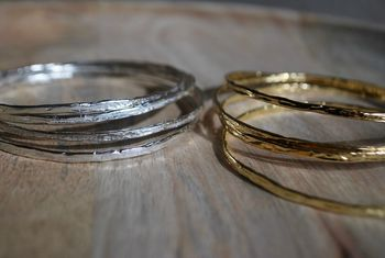 Textured Stacking Bangle