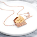 Personalised Mini Love Letter Necklace In Rose Gold