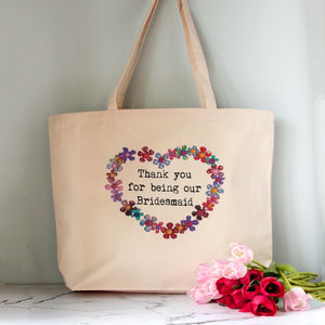 Personalised Wedding Party Tote Bag - wedding thank you gifts