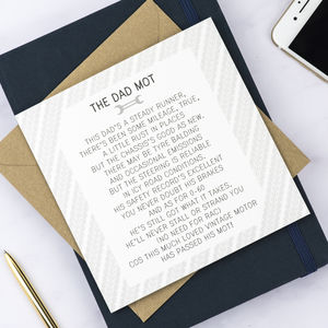 Dad Mot Poem Card