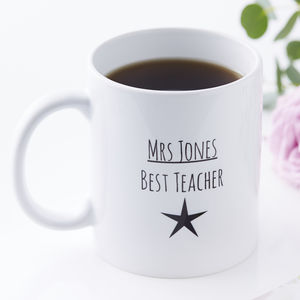Personalised Best Teacher Mug - summer sale