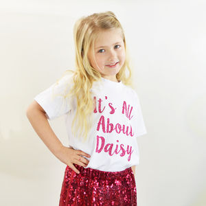 'It's All About' Personalised Sparkle Top And Skirt Set - clothing