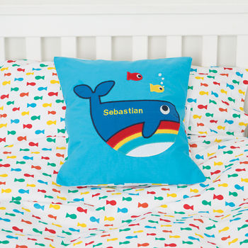 Personalised Whale Cushion Cover