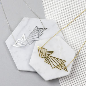 Geometric Grid Necklace - contemporary jewellery