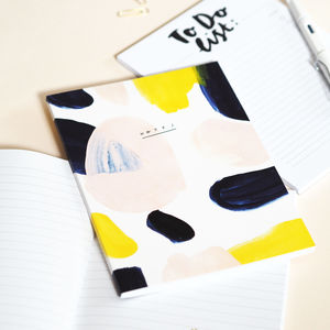 A5 Abstract Pattern Lined Notebook - off to university