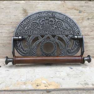Cast Iron Kitchen Roll Holder - toilet roll holders