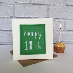 Happy 18th Birthday Milestone Card - birthday cards
