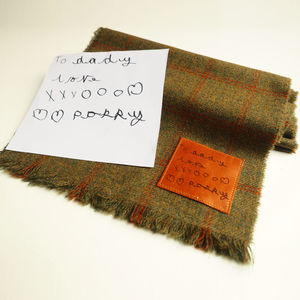 Lambswool Scarf With Handwritten Message - men's accessories
