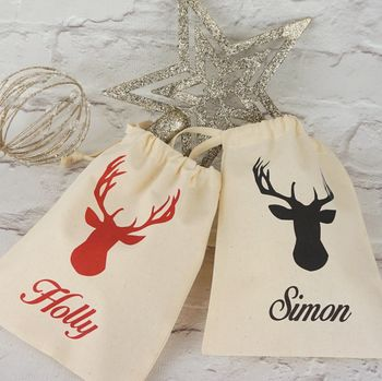 Personalised Mini Christmas Stag Bag