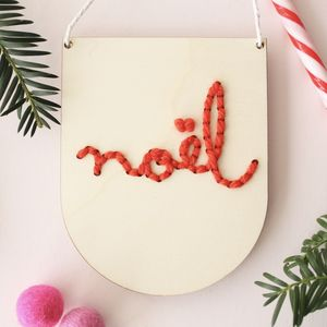 Noel Christmas Embroidery Craft Kit