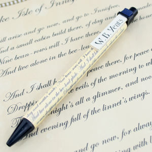 The Lake Isle Of Innisfree Poetry Pen