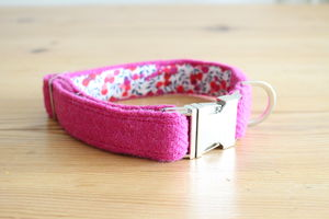 Nessie Harris Tweed Dog Collar - dogs