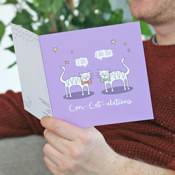 Mr And Mr Wedding Cats Card