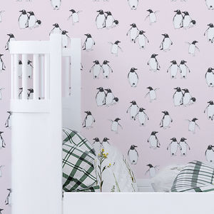 Penguin Children's Wallpaper - baby's room