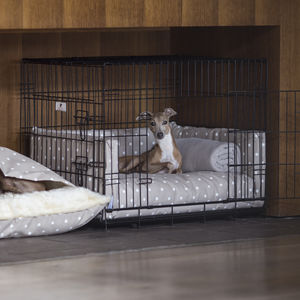 Crate Mattress And Bed Bumper Set - dogs