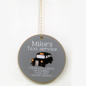 Personalised You Passed Car Decoration