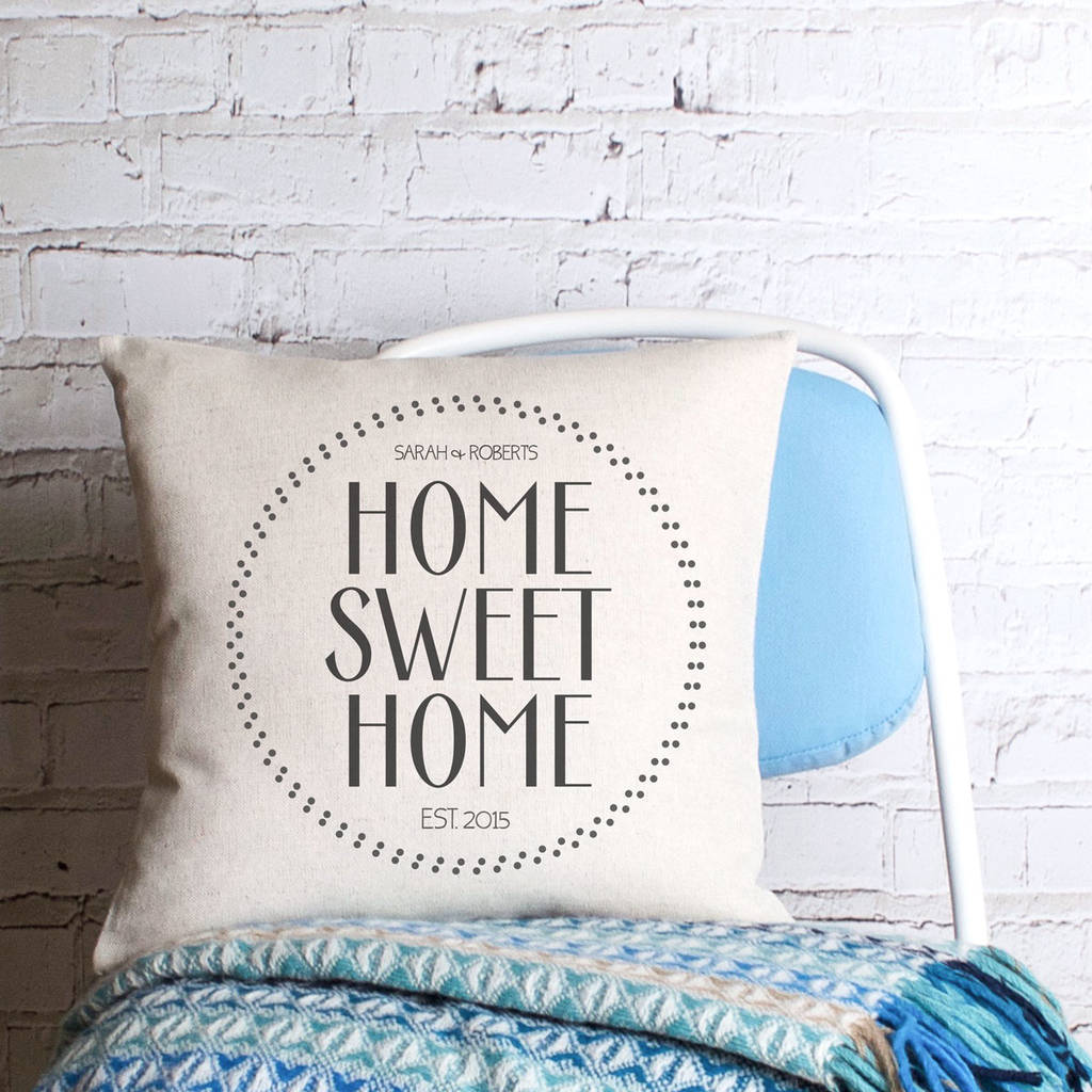 happy couple home sweet home personalised cushion cover by vintage ... 1e1f7e0d8e7b