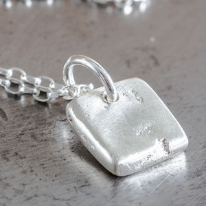 Personalised Small Square Charm Necklace