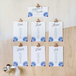 Loren Table Plan And Table Number Cards - room decorations