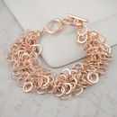 Rose Gold Rings Bracelet
