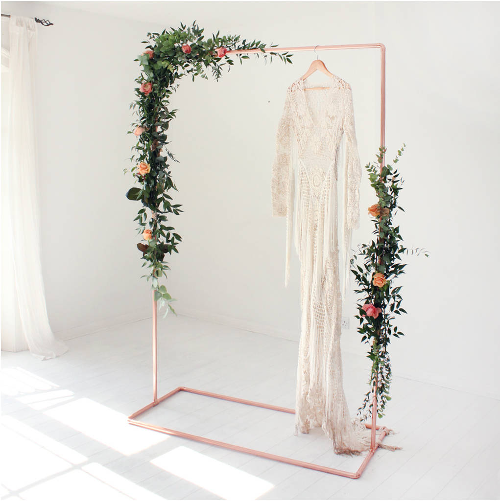 Free Wedding Ideas: Copper Wedding Backdrop Frame For Flowers And Garlands By