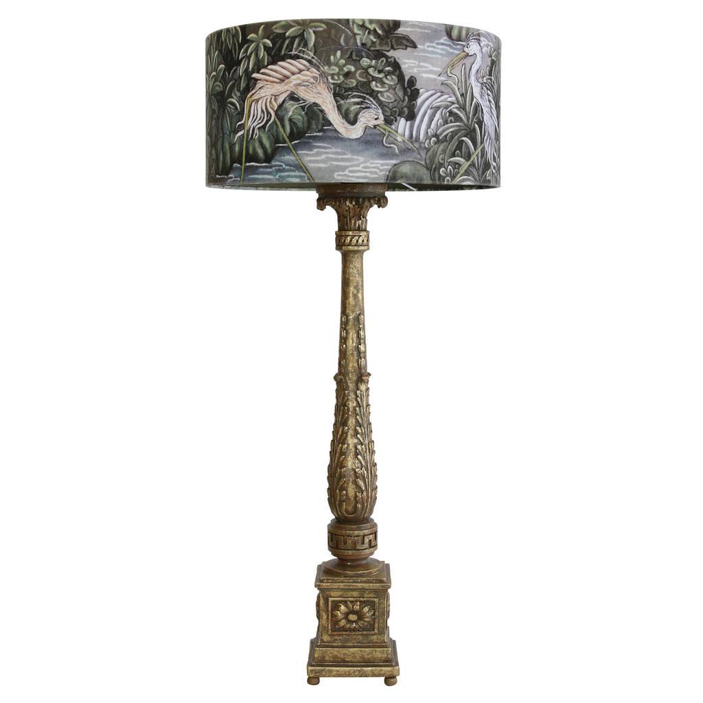 Ornate table lamp with fishing birds shade by out there interiors ornate table lamp with fishing birds shade aloadofball Choice Image