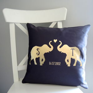 Personalised Love Elephant Cushion