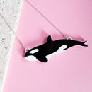Orca Killer Whale Necklace