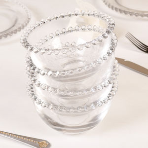 Set Of Four Beaded Glass Bowls As Used By Nigella - tableware