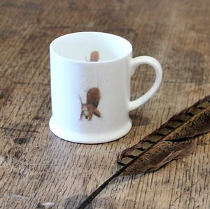 Red Squirrel Bone China Mini Mug