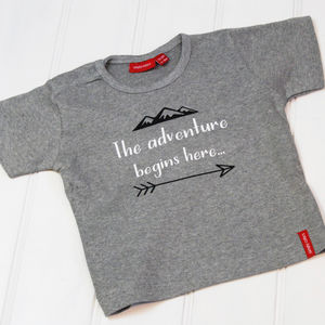 'The Adventure Begins Here…' T Shirt/Babygrow - clothing