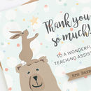 Teaching Assistant Thank You Card