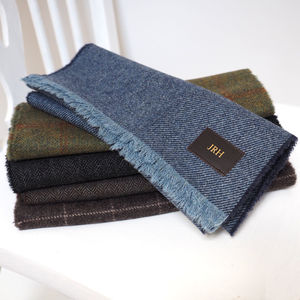 Personalised Lambswool Scarf - frequent traveller