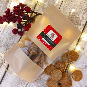 Natural Crunchy Dog Biscuits Festive Bag
