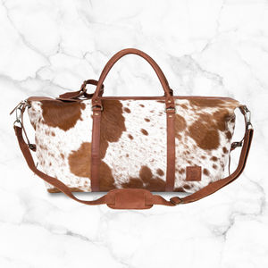 Armada Overnight Duffle In Animal Print/Natural Fur - mens