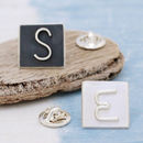 Personalised Silver Initial Lapel Tie Pin