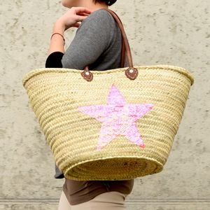 Shoulder Basket With Large Sequin Star - bags & purses